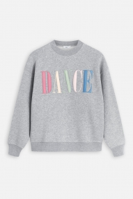 Closed Sweatshirt with Embroidery - Grey heather