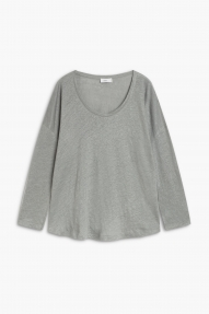 Closed linen longsleeve - dusty pine
