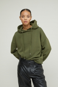 Closed Organic Cotton Hoodie with Print - lentil