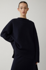 Closed italian yarn sweater - dark night