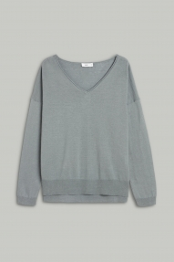 Closed linen & cotton fine knit sweater - dusty pine