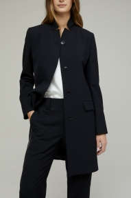 Closed Wool Mix Pure Pori Coat - black