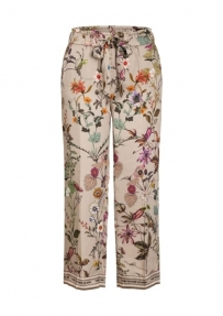 Cambio Colette blossom broek - sand fond
