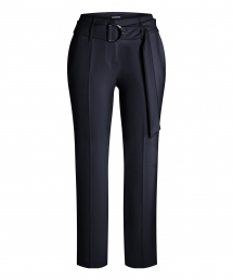 Cambio Kaia pants with belt - dark navy