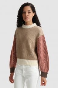 Woolrich Crewneck sweater Alaskan brown block