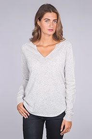 NOT SHY Pull Col Rond Large ML Raglan grijs