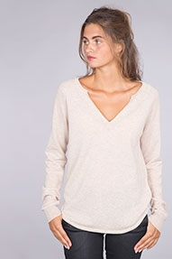 NOT SHY Pull Col Rond Large ML Raglan beige