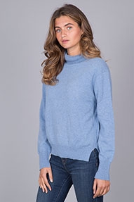 NOT SHY Pull Coll Roule ML Loose blauw