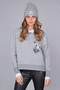 Essentiel Rodano Sequined Sweater grijs