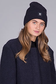 Closed Knitted Hat donkerblauw