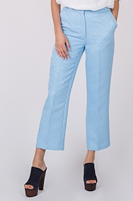Essentiel Pilled cropped pants blauw
