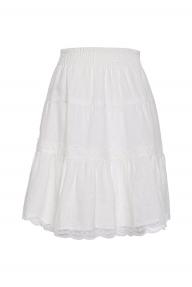 Gold Hawk Rose Linen Skirt wit