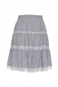 Gold Hawk Rosie linen skirt - stripe