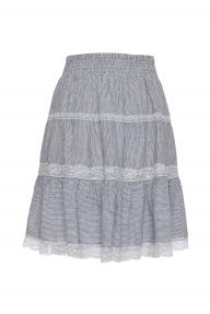 Gold Hawk Rose Linen Skirt multicolour