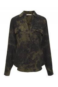 Gold Hawk Nicki tie dye shirt - green moss