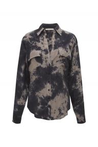 Gold Hawk Nicki tie dye shirt - dark grey