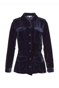 Gold Hawk Velvet Army Jacket donkerblauw