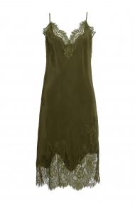 Gold Hawk grace slip on dress - olive