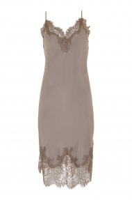 Gold Hawk coco bodice lace dress - stone grey