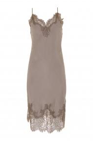 Gold Hawk coco bodice lace dress - stone grey