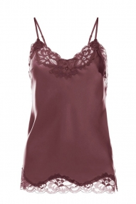 Gold Hawk floral lace silk cami - burgundy