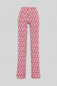 Malìparmi CERES DROP JERSEY TROUSERS RED / PINK