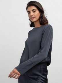 Ahlvar Gallery Kelly blouse blue grey