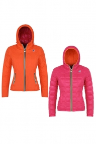 K-Way jas Lily Thermo Plus Double roze-oranje