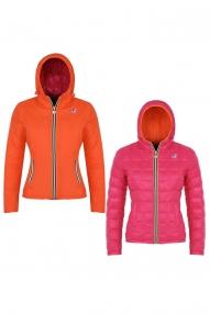 K-Way jas Lily Thermo Plus Double roze-oranje