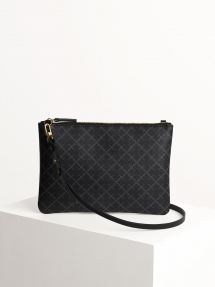 By Malene Birger ivy purse charcoal