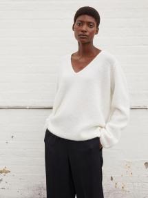 By Malene Birger Rhila mohair-blend sweater - soft white