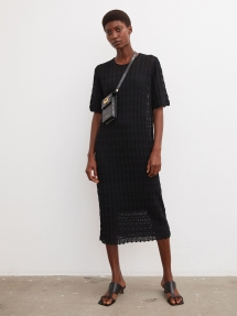 By Malene Birger Dryphis lace-knitted dress - black