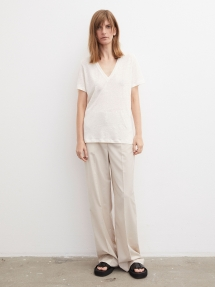 By Malene Birger Zooey linen t-shirt - soft white