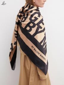 By Malene Birger Jemima square scarf Tan