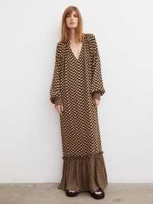 By Malene Birger Rosalin maxi jurk - Tan