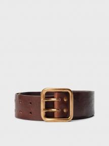 By Malene Birger Vinta leather belt - cognac