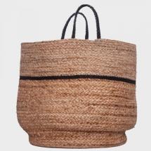 Colores round jute bag - multi