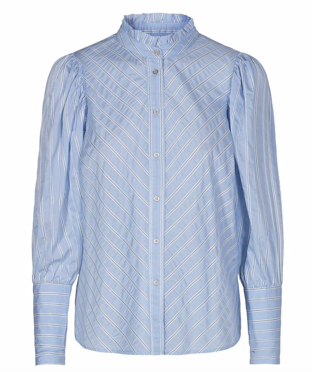 Co'Couture Dina stripe shirt - Pale blue