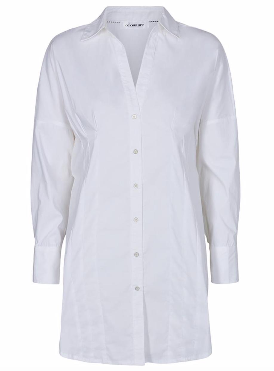 Co'couture Moulin pleat poplin-White