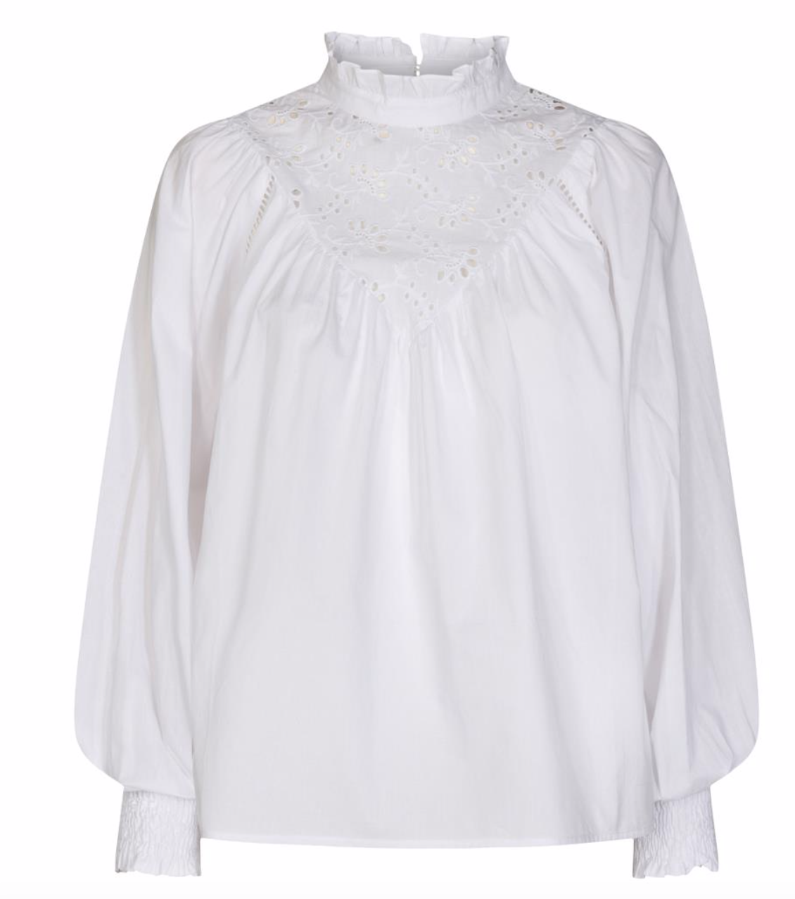 co couture briela anglaise shirt White