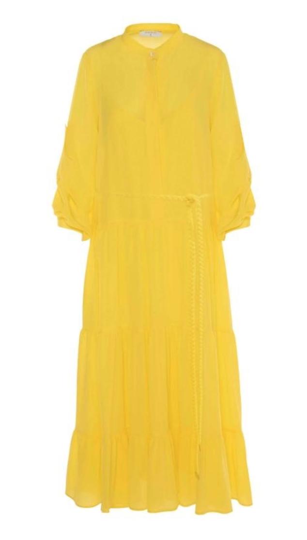 beatrice jurk met ceintuur cyber lemon