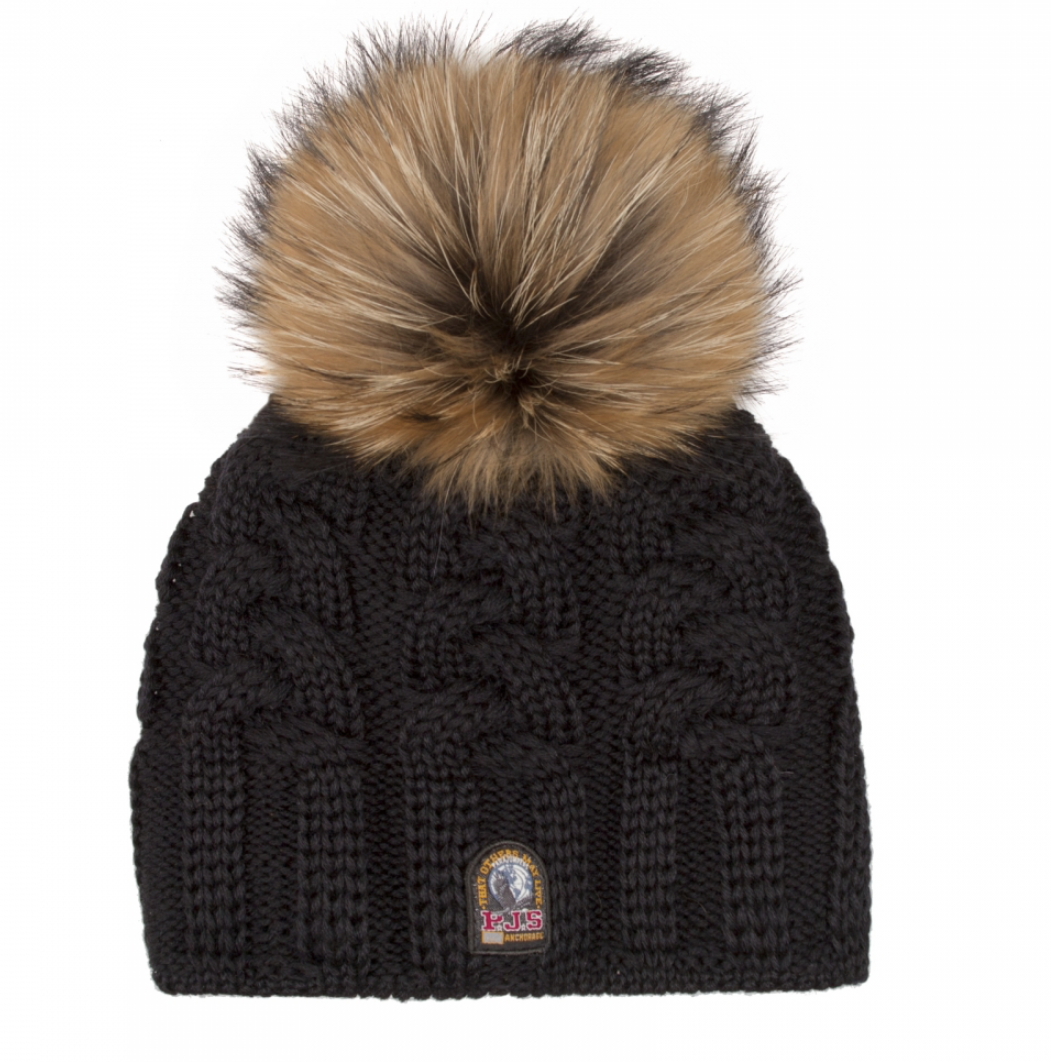 Parajumpers CABLE HAT KNITTED BEANIE black