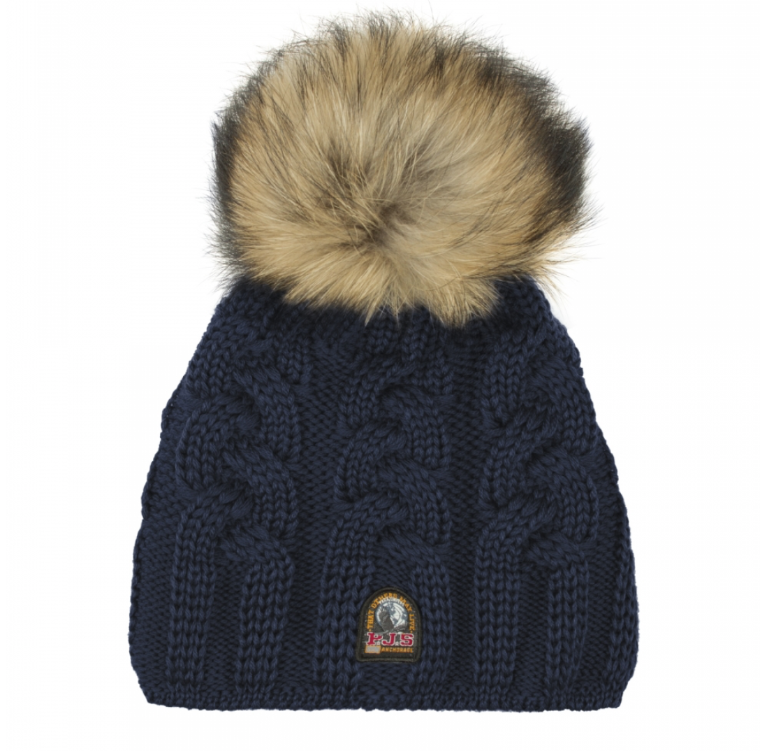 Parajumpers CABLE HAT KNITTED BEANIE navy