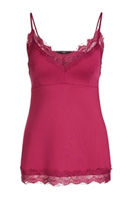 SET Fashion Taira Lace Strap Top - bright pink
