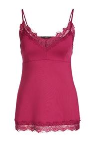 SET Fashion Taira Lace Strap Top - bright pink