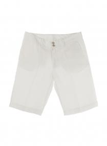 120% lino bermuda shorts White