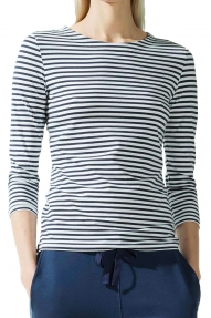 Zenggi Top Fine Cotton Striped donkerblauw