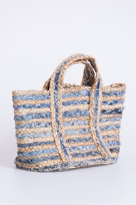 Bianca van Leur Shawls Jeans Recycle Beach Bag Small blauw