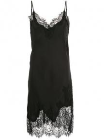 Gold Hawk grace slip on dress - black