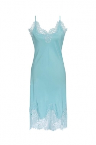 Gold Hawk Coco Bodice Lace Dress - aqua powder